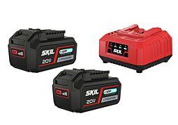 "SKIL 3112 BA Akumulátory (""20V Max"" (18 V) 4,0 Ah ""Keep Cool™"" Li-Ion) anabíjačka"