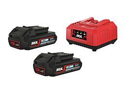 "SKIL Akumulátory (""20V Max"" (18 V) 2,0 Ah ""Keep Cool™"" Li-Ion) anabíjačka"