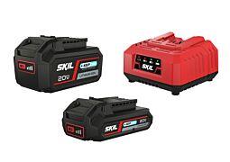 """SKIL Akumulátory (""""20V Max"""" (18V) 2,0 Ah a4,0 Ah """"Keep Cool™"""" Li-Ion) anabíjačka"""