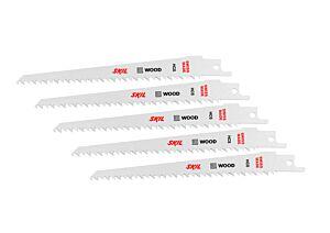 SKIL Súprava 5 HCS pílových kotúčov na drevo